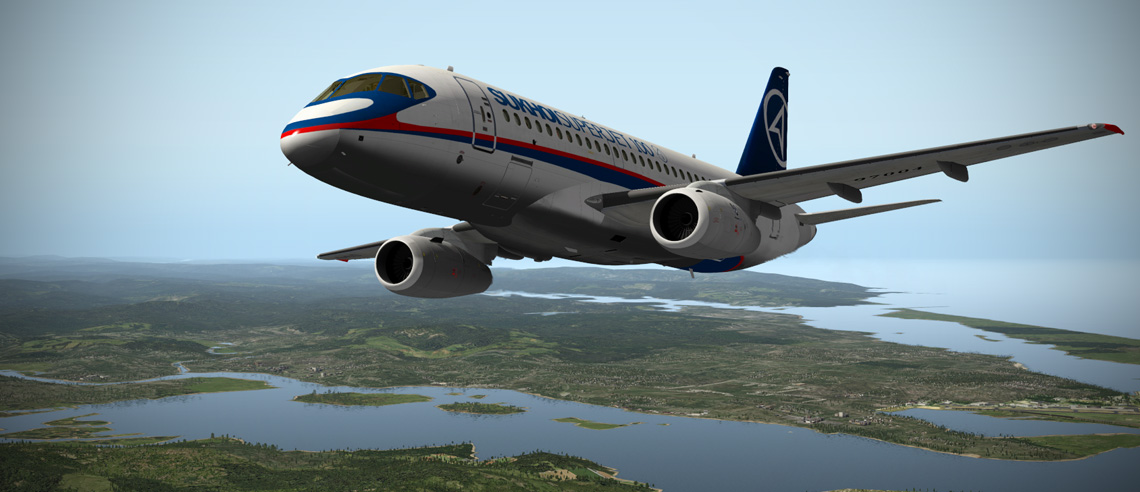Sukhoi 100 SuperJet SSJ-100 for X-Plane | Mudspike