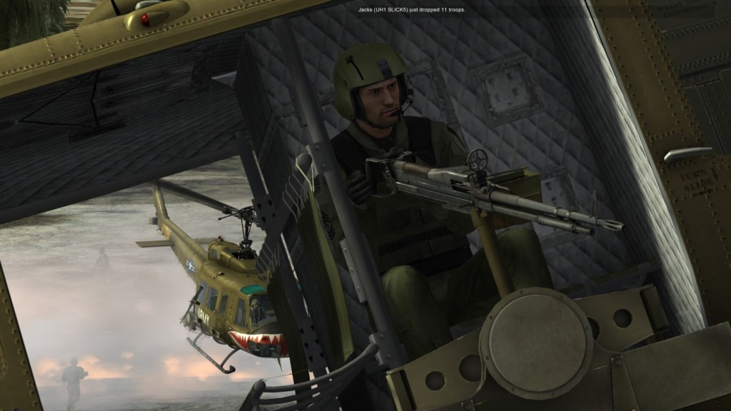 Jetmechanic's gunner with a mean face